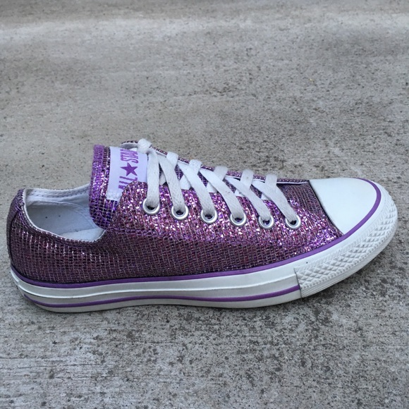 c5d1fab0645d Converse Shoes - Converse Purple Glitter Men Sz 7 All Star Low To